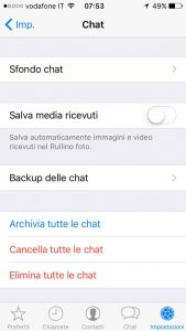 backup delle chat whatsapp iphone