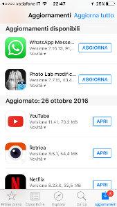 aggiornamento whatsapp su iphone