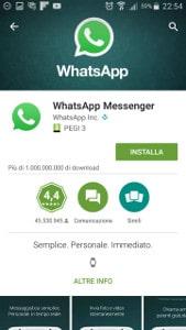 installazione whatsapp su samsung android
