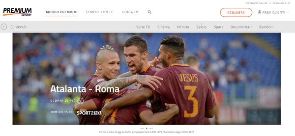 premiumonline streaming calcio