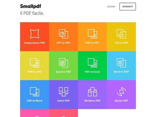 smallpdf - unire pdf